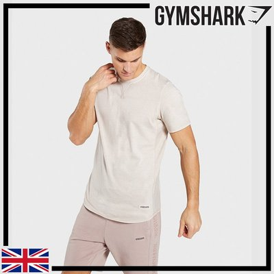 ►瘋狂金剛◄灰色 GYMSHARK LAUNDERED T-SHIRT 運動上衣 短袖 純棉T