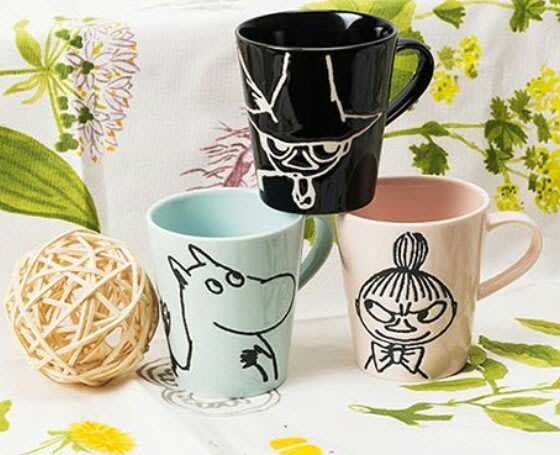 天使熊雜貨小舖~日本帶回MOOMIN陶瓷馬克杯系列~ 現貨:嚕嚕米/亞美2款  日本製  全新現貨