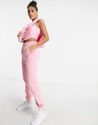 代購adidas Originals 'Relaxed Risqué' velour jogge休閒運動長褲UK6-18