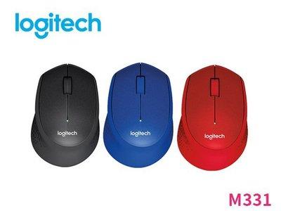 「阿秒市集」Logitech 羅技 M331 無線 靜音 滑鼠 【 黑 / 藍 / 紅 】三色款
