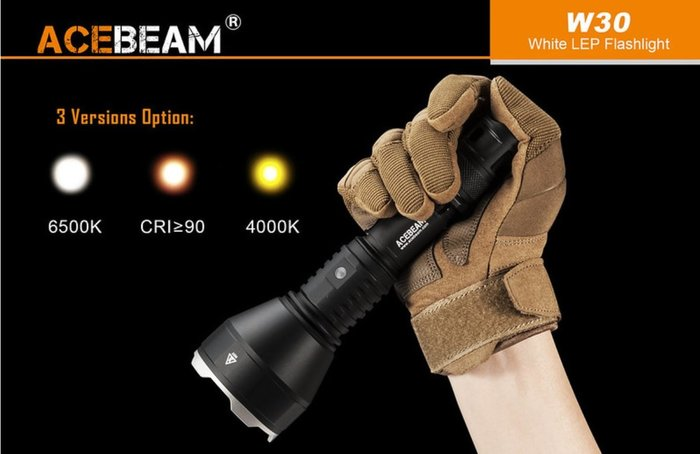 【LED Lifeway】ACEBEAM W30 (含原廠電池+濾鏡 ) 2408米 超強遠射 雷射光束 可潛水100米