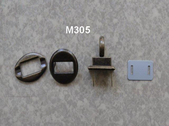 *巧巧布拼布屋*日本進口~M305圓型古銅.白銀 扣鎖/ 拼布五金材料