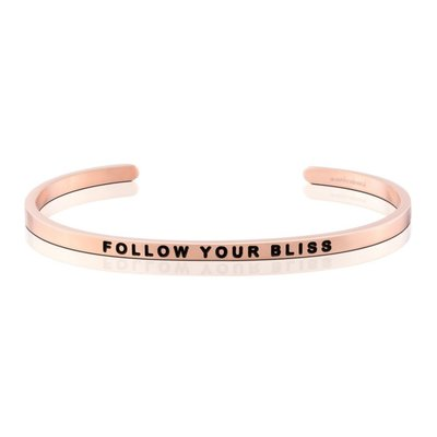 MANTRABAND 悄悄話手環 FOLLOW YOUR BLISS 遵循你內心的喜悅 玫瑰金玫瑰金手環