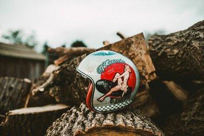 ♛大鬍子俱樂部♛ Premier® Pin Up Old Style 義大利 復古 仿舊版 女郎 偉士牌 Jet 安全帽