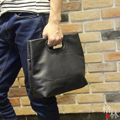 新品時尚男士手提包公文包潮流文件包男小...