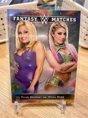 ��2020 Topps Chrome WWE Fantasy Matches Trish Stratus Alexa Bliss Refractor 2代女神