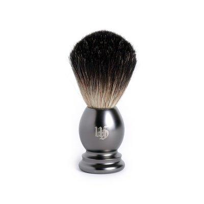 英國 Grand Manner 純獾毛 刮鬍泡刷 / 鬍刷(槍管黑)