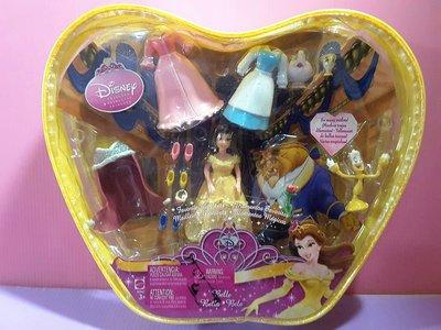 【Mika】公仔娃娃 換裝迪士尼公主美女與野獸 Beauty and the Beast Disney*現貨