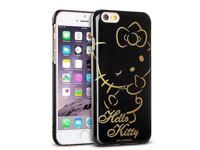 尼德斯Nydus~* 日本正版 三麗鷗 Hello kitty 凱蒂貓 黑底燙金 硬殼 手機殼 4.7吋 iPhone6