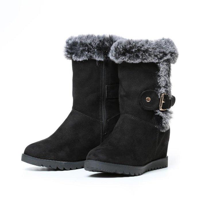 丹大戶外用品【ESKT】女中筒超細纖維雪鞋/專利冰爪/耐磨防滑鞋底 SN253 黑