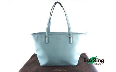 [Eco Ring HK]*Kate Spade Tote Bag Leather Light Blue*Rank B-197023624-