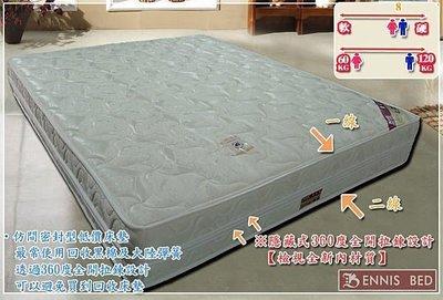 【班尼斯國際名床】~【北中南配合店面】『5尺特殊加強養生硬式風車獨立桶彈簧床』~較重買家適用