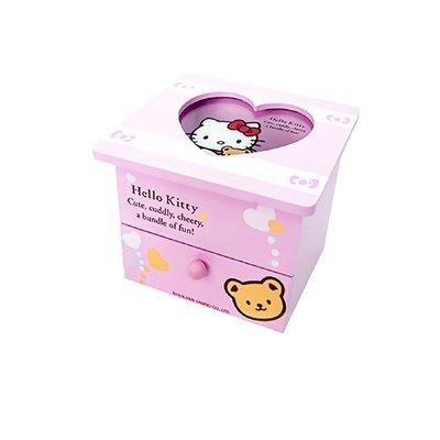 佳佳玩具 --- 三麗鷗 正版授權 Kitty 多功能 兩層式木質 置物盒 抽屜 小珠寶盒 首飾盒【1223007】