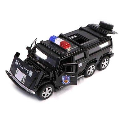 模型車 合金警車玩具 仿真兒童玩具車警察車男孩回力小汽車模型警報聲光sys