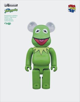 ArtLife @ MEDICOM BE@RBRICK 1000% The Muppets KERMIT 科米蛙