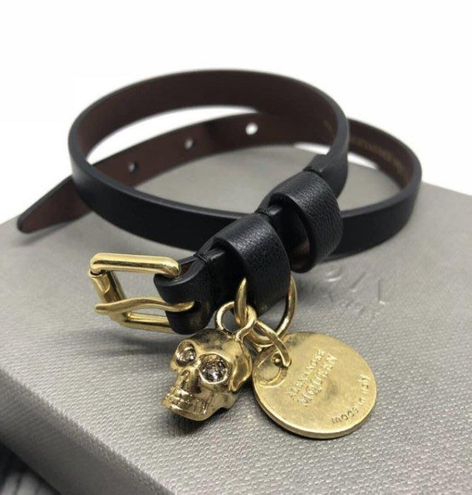 Alexander McQueen Skull Bracelet 骷髏頭皮手環 黑