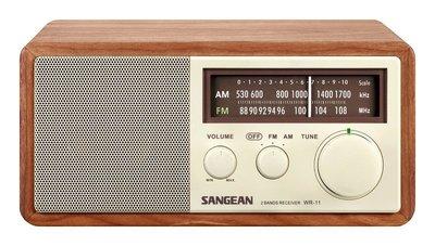 《常自在》^免運^SANGEAN山進二波段調頻 / 調幅 復古收音機 WR-11