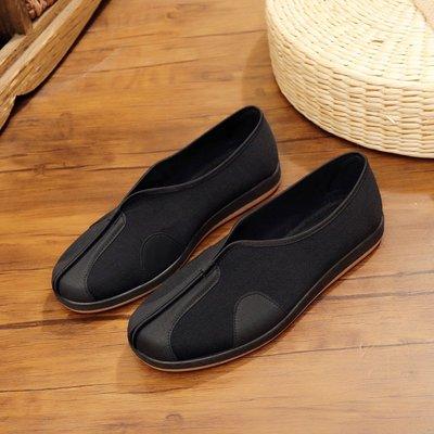 復古風春夏季功夫鞋老北京布鞋男士上班平跟防滑軟底透氣平底單鞋