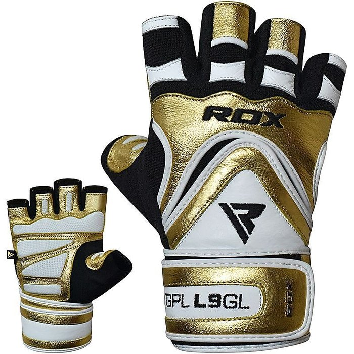 【線上體育】RDX GYM GLOVE PAPER LEATHER L9 GOLDEN 健身護腕手套