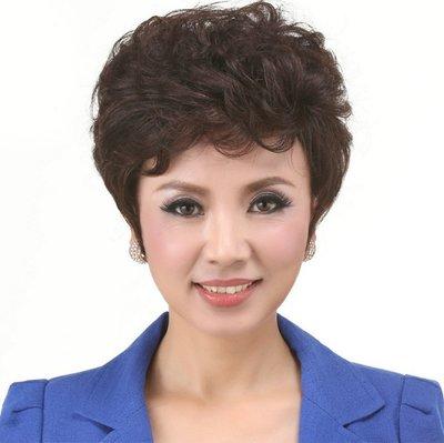 水媚兒假髮ZMF013HH♥新款女士真髮 優雅捲髮 溫柔婉約 短髮♥ 預購 團購批發
