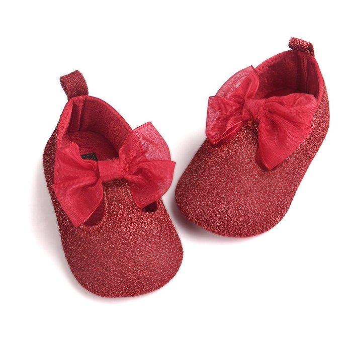 森林寶貝屋~時尚紅公主鞋~學步鞋~幼兒鞋~寶寶鞋~娃娃鞋~學走鞋~防滑鞋~鬆緊帶設計~坐學步車穿~彌月贈禮