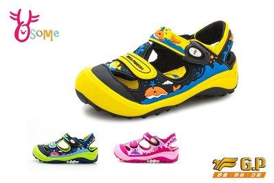 現貨多件優惠 GP涼鞋 中童 鯨魚兒童護趾鞋 【共三款】I6934 .35 .37 OSOME奧森鞋業