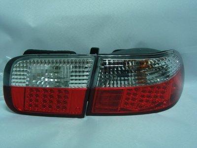 新店【阿勇的店】喜美(CIVIC) K6 3D 92~95 白紅晶鑽LED尾燈 3門 K6 尾燈 DEPO