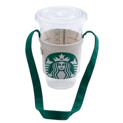 ㊣星巴克 經典女神便利單杯提袋 掛機車杯袋 飲料杯套 環保提袋星冰樂冷熱飲starbucks