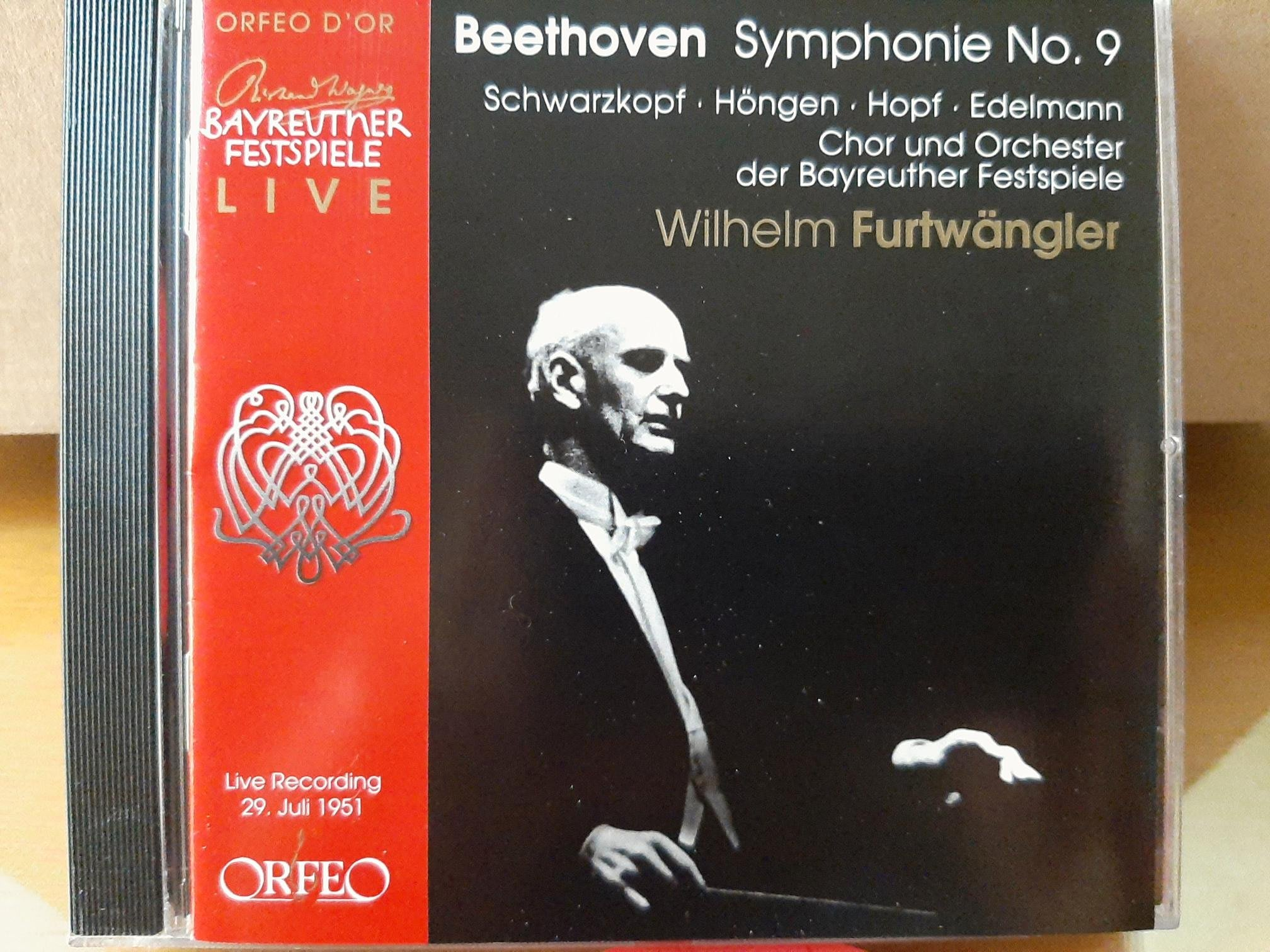 Furtwangler,Beethoven-Sym No.9Choral福特萬格勒指揮貝魯特節慶管弦及合唱團(舒瓦茲柯芙等)演繹貝多芬-第9號交響曲合唱