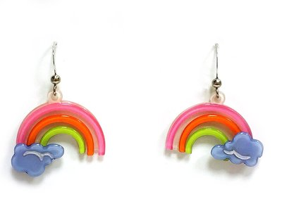 Anna Lou Of London倫敦品牌 Rainbow立體小彩虹雲朵耳環