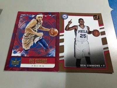 【BEN SIMMONS】NBA 76人隊 COURT KINGS 油畫卡+普卡 共兩張 高雄市