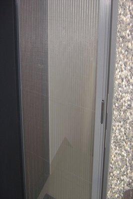 隱藏式摺疊紗窗~活動百葉窗~鋁合金廣角防盜窗
