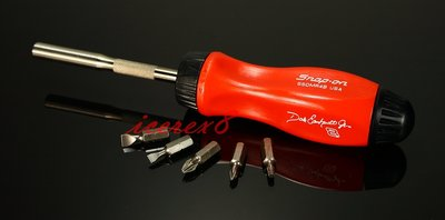 Snap on 世界頂級工具 全新Snap-On棘輪螺絲起子Dale Earnhardt Jr紅黑限量簽名紀