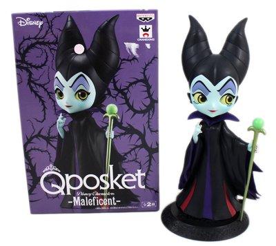 【卡漫迷】 限量版 黑魔女 Q版 公仔 黑色 ㊣版 日版 擺飾 Qposket 睡美人 迪士尼 模型 收藏 萬普 收集