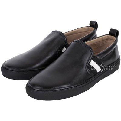米蘭廣場 BALLY HERALD 經典織帶拼接小羊皮休閒便鞋(黑色) 1530074-01