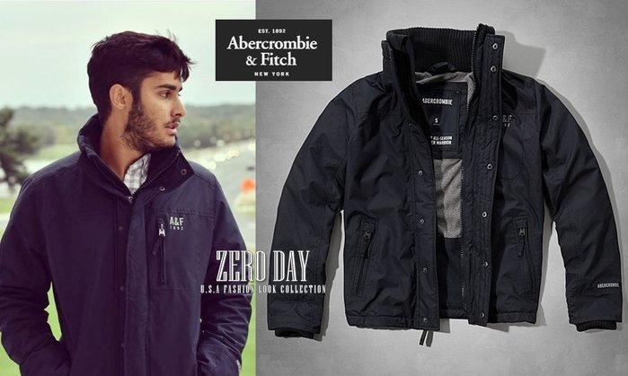A&F Abercrombie&Fitch All-Season Weather Warrior Jacket風衣外套藍