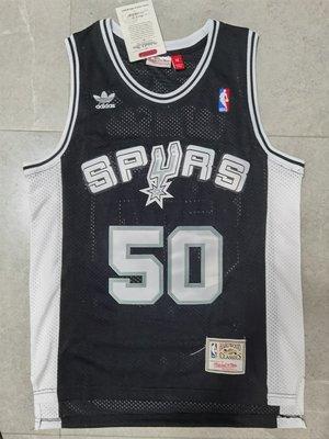 小R運動館NBA球衣 S.A. Spurs 聖安東尼奧 馬刺隊 籃球服 背心 50號 新面料 黑色 籃球衣