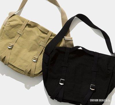 GOODFORIT / 韓國UNIFORM BRIDGE Daily Mail Bag水洗帆布復古報童包/兩色
