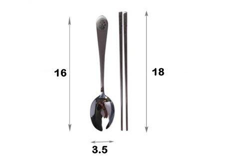 小小兵 304 不鏽鋼 湯匙 筷子  奶爸商城 688128 特價