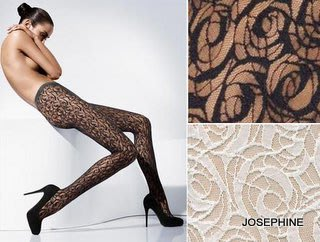 喬瑟芬【WOLFORD】限量經典蕾絲*玫瑰花蕾絲褲襪~黑/象牙白共2色