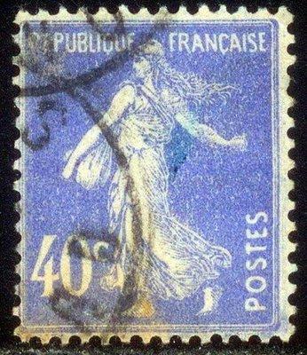 1906年法蘭西第三共和國Sower郵票40cents