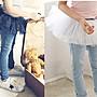 *韓風寶貝*KC074韓國女童荷葉邊牛仔褲裙 +送...