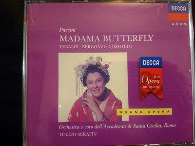 Serafin,Tebaldi,Puccini-Madama Butterfly,賽拉芬,提芭蒂,普契尼-蝴蝶夫人,2CD,片況佳。