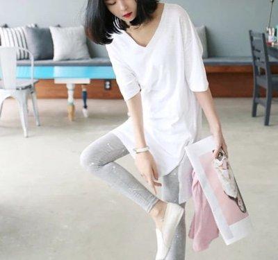 *Angel  Dance*短袖純棉上衣(2色)@韓系 S到5X L 開叉 拉鏈 大中小尺碼 顯瘦 寬鬆@現貨+預購