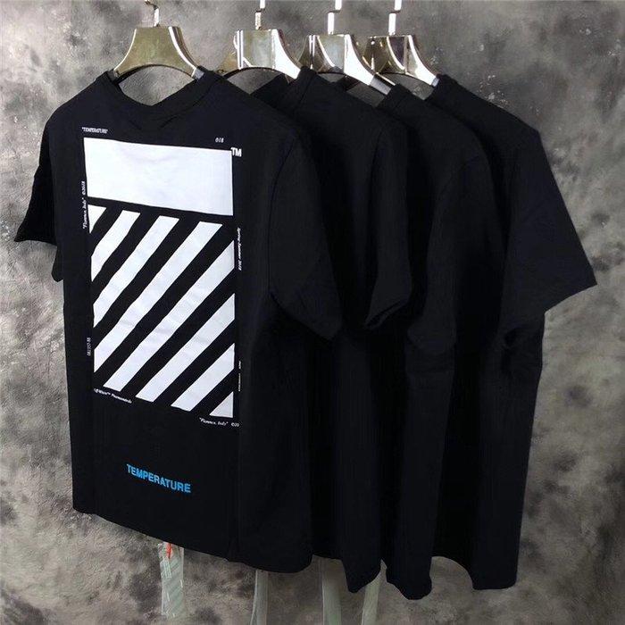 全新正品2019基本款OFF WHITE OW 斜紋短袖TEE