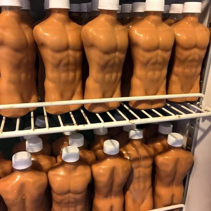 台灣製*加厚 猛男 飲料瓶 日本 小鮮肉奶茶 飲料杯 空瓶 飲料罐 筋肉 肌肉男 肌肉瓶 -瓶蓋-09  50支單價