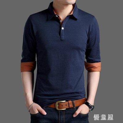 大尺碼polo衫男士冬季上衣純棉長袖t恤寬鬆衣服毛衣polo衫打底衫 QG16664