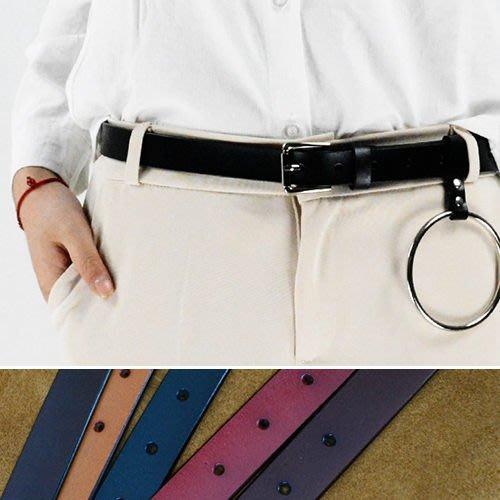 腰鏈皮帶 簡約 針釦 真皮 腰帶 圓環 裝飾 皮帶【FJP-H5】