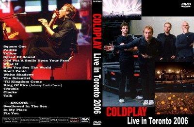 **非官方DV  COLDPLAY - Live in Toronto 2006  超華麗的舞台燈光效果 92分鐘 全區