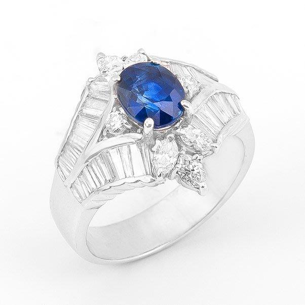 【JHT 金宏總珠寶/GIA鑽石專賣】2.16ct天然藍寶鑽戒/材質:18K(S00011)